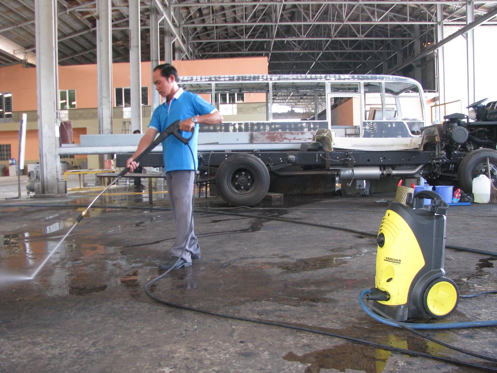 Nhà xưởng sạch sẽ giúp sức khỏe công nhân được đảm bảo