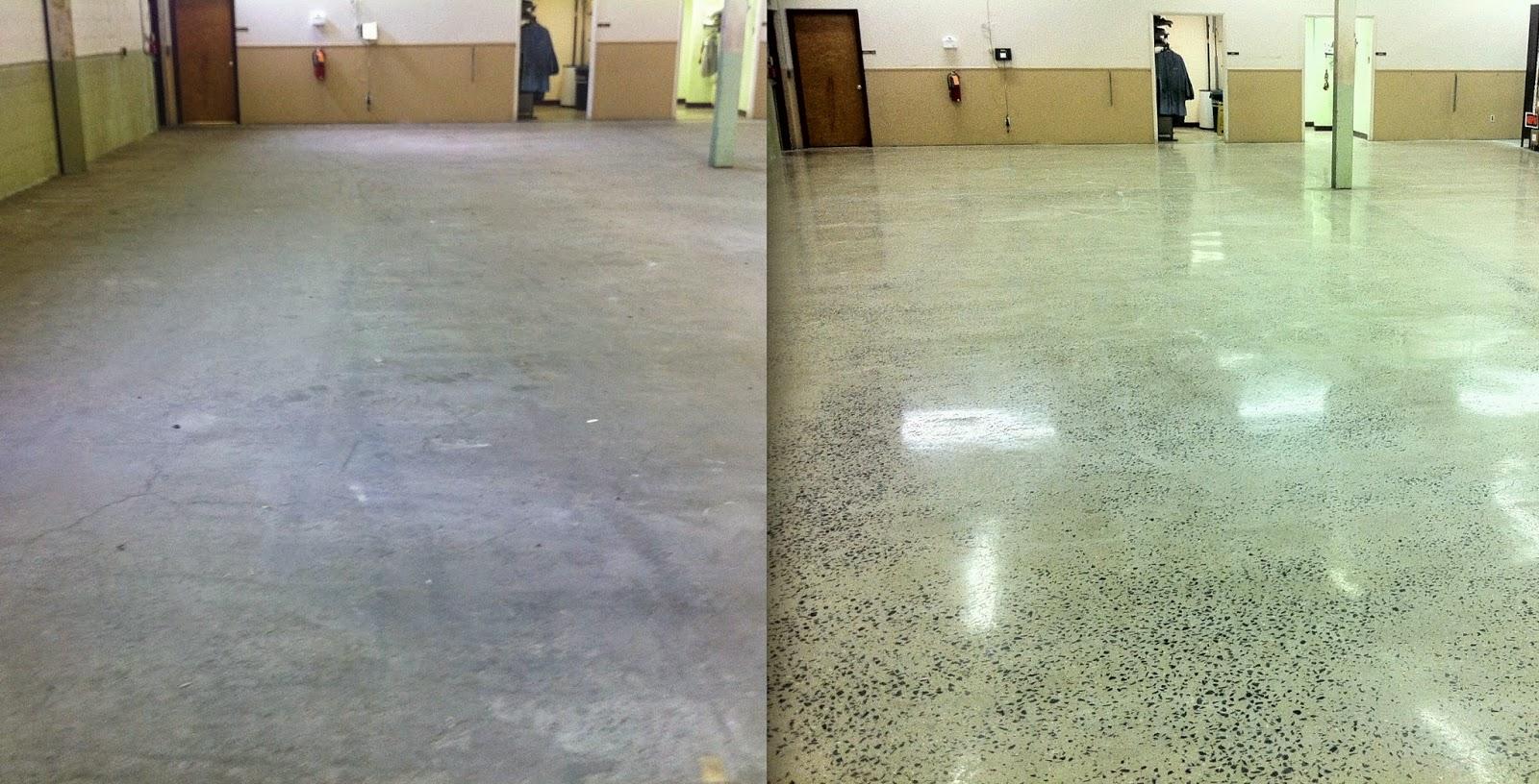 Độ đẹp của sàn bê tông không hề kếm các chất liệu khác