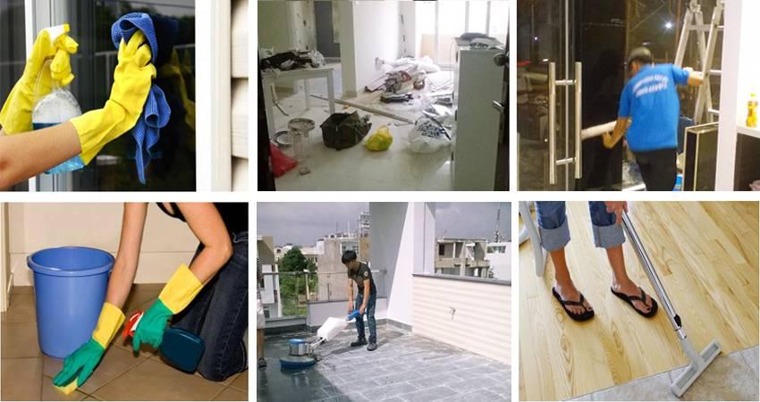 Quy trình sử dụng dịch vụ vệ sinh nhà mới xây Gia Khang