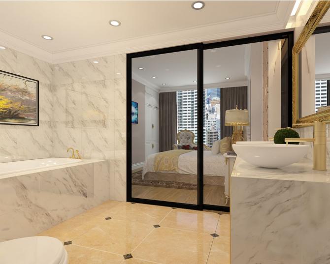 Đá hoa cương được sử dụng trong nhà tắm
